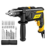 URCERI 2-in-1 Hammer Drill 710W 3000RPM Powerful Impact Drill and Driver, 360° Rotatable