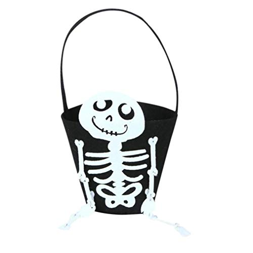 Borsa di halloween a sacchetto cloom- dolcetto o scherzetto bambine ragazzi zucca conservazione halloween borsa accessori singolo borse borse (f, 1pc)