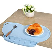 Sweetheart -LMM Kids Placemats, Collapsible Non-Slip Silicone Suction Placemats Eating Mat for Most Kids Feeding Highchair & Table Eholder Portable Baby