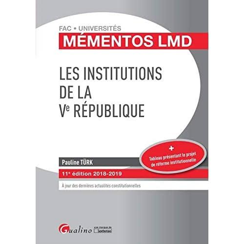 Les institutions de la Ve République