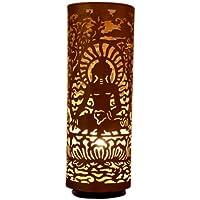 THE YELLOW DOOR Buddha di bronzo grande lampada da tavolo