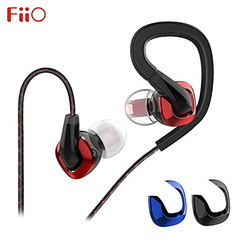 FiiO F3, Auricolari Intraurale con microfono e copertura decorativa sostituibile, Nero, Rosso, Blu