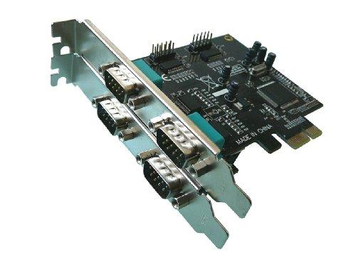 Kalea Informatique PCI-Express-Karte (PCI-E)//4Ports Serie RS232//RCA DB9Männlich (Xp Motherboard)