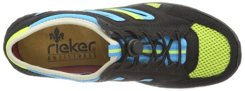 Rieker  L0754 Damen Sneaker Schwarz (schwarz/limette/schwarz/azur/neongelb 00)