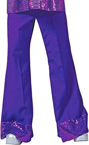 Pantaloni con paillettes da uomo per anni 70/80, Costume hippie per spettacolo.