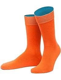 """von Jungfeld - Herren Socke / Strumpf """"Thrakien"""", orange mit blau"""