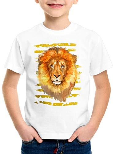 style3 Löwe T-Shirt für Kinder Afrika Safari savanne Sommer, Größe:116 (König Der Löwen T Shirt Kinder)
