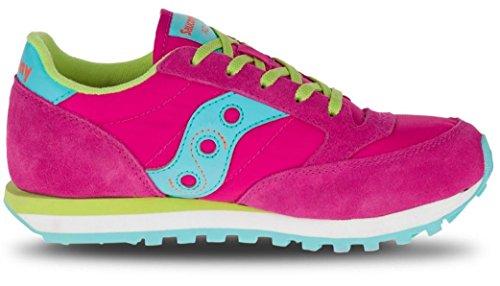 SAUCONY - Chaussure de sport fuchsia à lacets, en suède et synthétique, colorée, confortable et à la mode, fille, filles, femme, enfant Fuchsia
