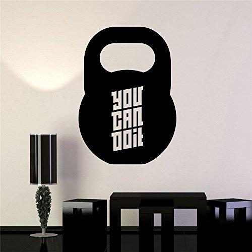Vinyl Art Room Mural Poster Sie können es Motivation Zitat für Gym Center tun
