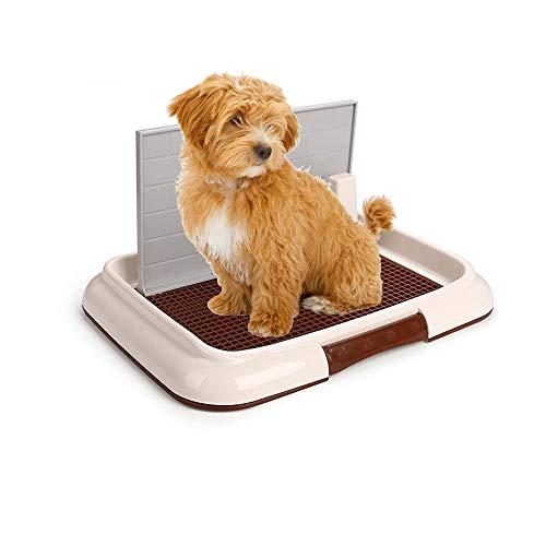 Cucciolo per Animali Domestici al Coperto, Vassoio da Addestramento con Parete Allenamento per Vasino Formazione Vasino Patch Portatile Parco per Animali Domestici ad Angolo per Cani Facile Pulizia