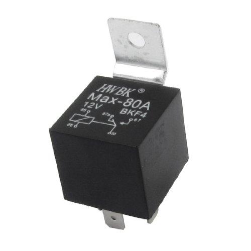 sourcing map Alarm Auto Relais Schalter Haupt 5-Pin SPDT NO NC 5 mm Schienen 12 Volt 80 Amp -