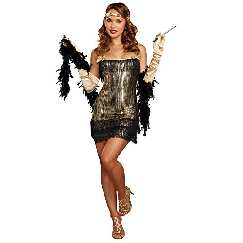 DreamGirl a10690 Shimmy serpiente Flapper, M