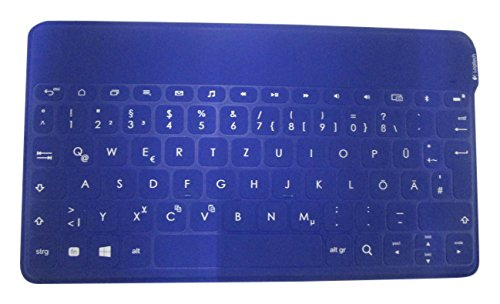 Logitech Keys-To-Go Bluetooth-Tastatur für Android und Windows (QWERTZ, deutsches Tastaturlayout) blau (Android-logitech Tastatur)