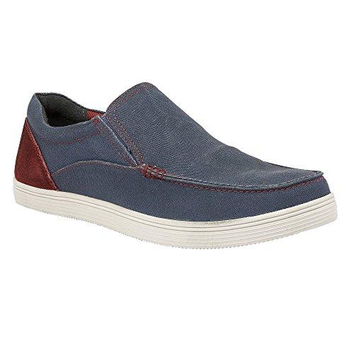 Lotus Men's Crossley Denim Blue Slip-On Shoes 6
