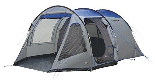 High Peak Tunnelzelt Alghero 5, 5 Personen Campingzelt mit Wohn-/Stauraum, herausnehmbarer Zeltboden, Festivalzelt mit Stehhöhe, großes Familienzelt mit 2 Eingängen, doppelwandig, 4.000 mm wasserdicht