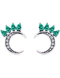 Imixlot Cz Pendientes Boho Gypsy Planet Half Sun Crescent Sailor Luna Moon Pendientes Piercing