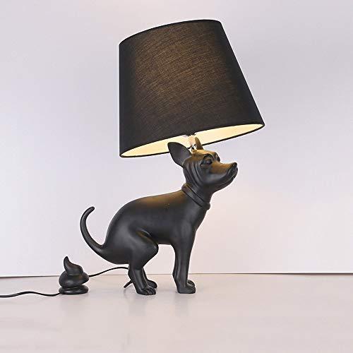 ● * Postmoderner nordischer einfacher wachsartiger Hundeschreibtischlampe Pooh Hund großer Hund Ladenhund Beispielraumtischlampe kreativer Stoffschirm Scheune Beleuchtungskörper Tischlichthöhe: 66cm ● (Pooh Stein)