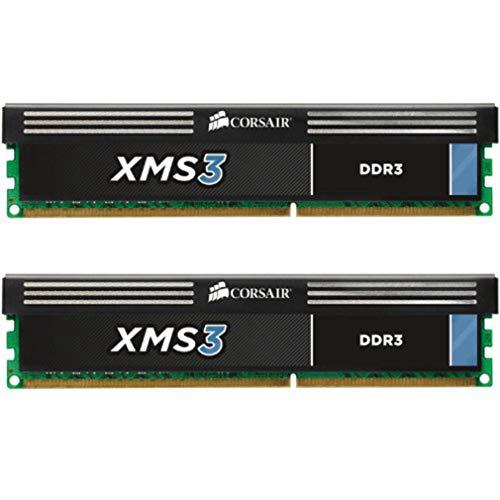 Corsair CMX8GX3M2A1600C11 XMS3 8GB (2x4GB) DDR3 1600 Mhz CL11 Performance Desktop Memory -