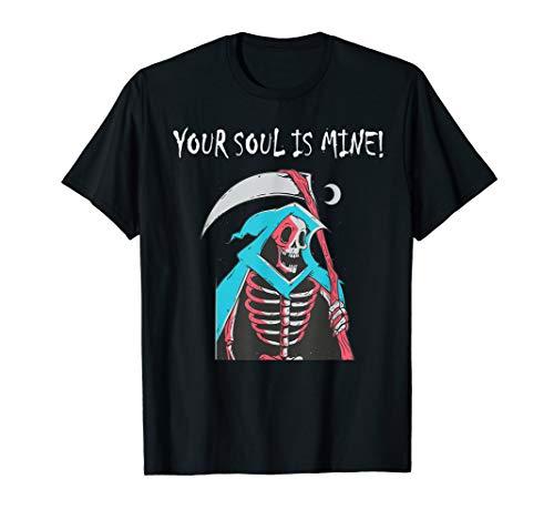 Your Soul Is Mine Greepy Grim Reaper Scythe Moon Schädel - Rot Grim Reaper Kostüm