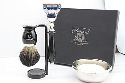 Preimuim Shaving Kit Gift Set For Men(Gillette fusion razor,Brush,Bowl,stand)