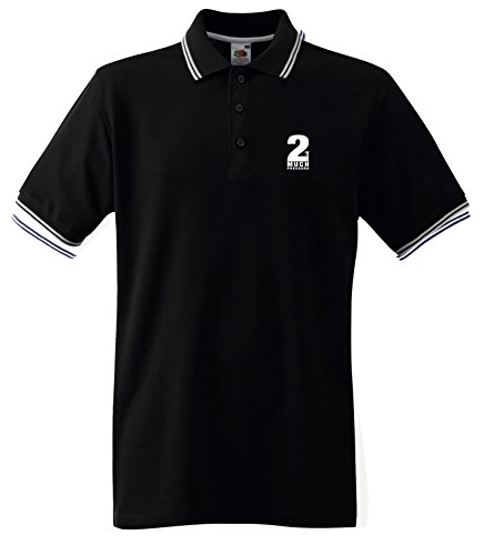 2 Tone Too Much Pressure Mens Polo T Shirt. Black or White up to XXL
