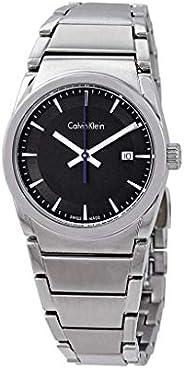 Calvin Klein K6K33143 Womens Quartz Watch, Analog Display and Stainless Steel Strap - Black
