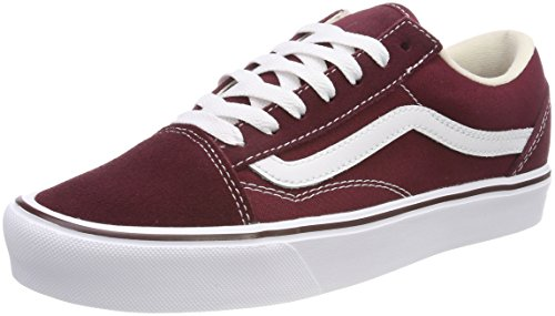 ne Old Skool Lite Sneaker, Rot (Suede/Canvas), 39 EU (Rote Vans Sneaker Für Männer)