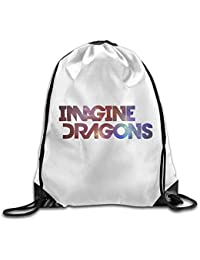 DHNKW Smoke Mirrors Imagine Dragons Rock Band Logo Drawstring Backpack Bag