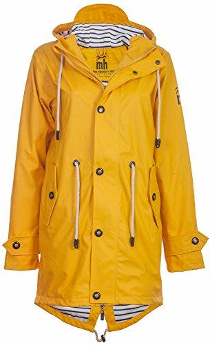 Friesennerz | Maritime Jacke | Regenjacke | veredelt | Das Original aus Ostfriesland in 2 Modell Norderney (L, Yellow)