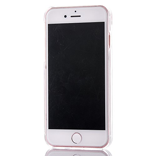 iPhone 7 Plus Hülle,Mo-Beauty® Schutzhülle iPhone 7 Plus Hülle Transparent Hardcase,Dynamisch Treibsand Flüssige Fließend Wasser Schutzhülle 3D Kreative Liquid Bling Hülle Case Glitzer Glitter Shiny G Pink,Gold star