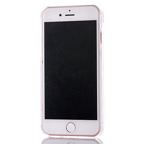 iPhone 7 Plus Hülle,Mo-Beauty® Schutzhülle iPhone 7 Plus Hülle Transparent Hardcase,Dynamisch Treibsand Flüssige Fließend Wasser Schutzhülle 3D Kreative Liquid Bling Hülle Case Glitzer Glitter Shiny G Glod,Star
