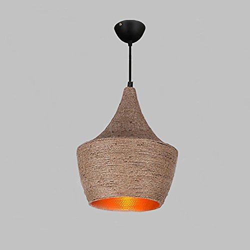 yaeer Industrie Lampe Retro Vintage Licht Anhänger Metall Loft Bar Deckenleuchte, Kordel Verstellbare, braun, 1-Light Type B -