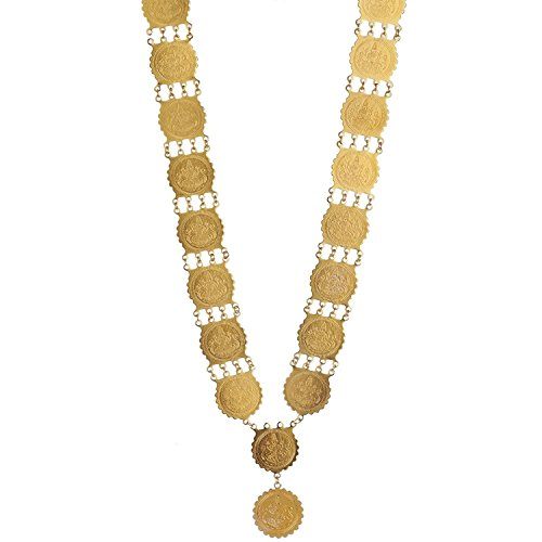 YouBella Gold Plated Temple Necklace Jewellery set For Girls/Women  available at amazon for Rs.299