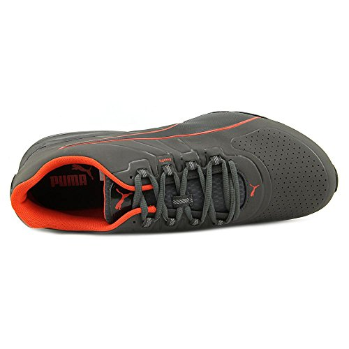Puma Voltage 180 sl Cuir Chaussure de Tennis Asphalt-Asphalt-Orange