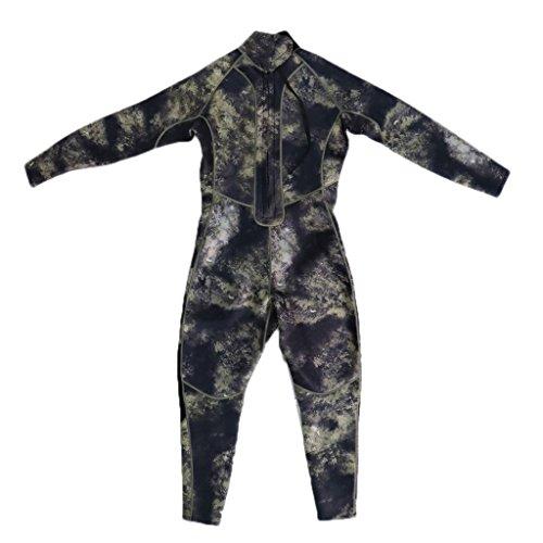 SaniMomo Tauchanzug Camouflage Herren Neoprenanzug Taucheranzug Naßanzug Einteiler Full Wetsuit - XL