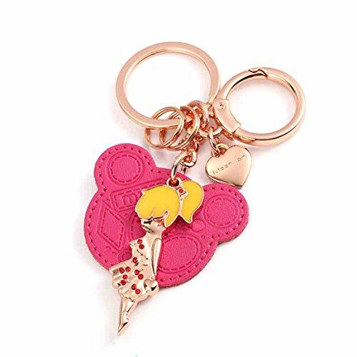 HZB Cute Girl Schlüsselanhänger, Auto Schlüsselanhänger Anhänger, Schlüsselanhänger, kreative Schlüsselanhänger