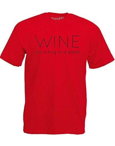 Brand88 - Wine Definition, Mann Gedruckt T-Shirt Rote/Schwarz