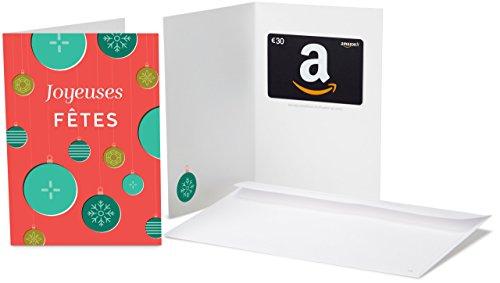 Carte cadeau Amazon.fr - €30 - Dans une carte de voeux Decorations de Noel