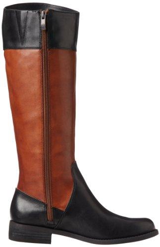 Vince Camuto Kellini Damen Rund Leder Mode-Knie hoch Stiefel Western Brown/Black