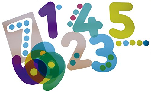 Henbea Plantilla de Aprendizaje números, tranlucidos