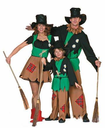PARTY DISCOUNT ® Herren-Kostüm Vogelscheuche, grün-braun, Gr. 50-52