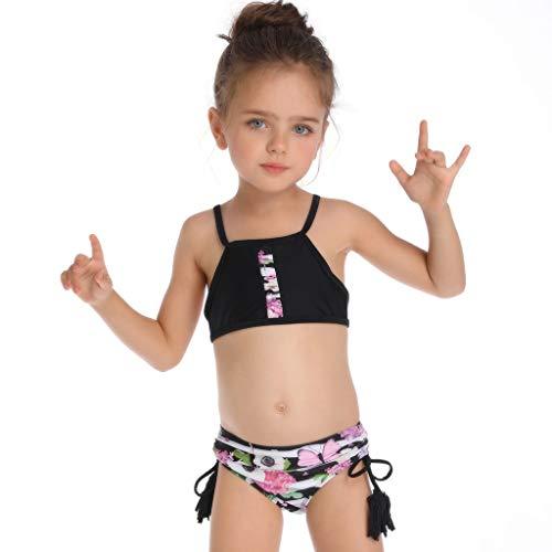 QinMM Conjuntos Bikinis Familia Madre e Hija, Bikinis para Mujer y 3-6 años niña, Push up Biquinis...