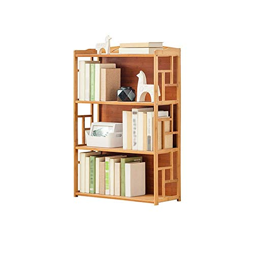 JJL 3 Tier Bücherregal Einstellbare Regale Holzlagerregal Bücherregal Utility Kitchen Storage Rack Organizer für unter Treppe, Bad, Speisekammer -