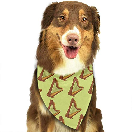 Sdltkhy Harp Music Pet Dog Cat Bandanas Triangle Bibs Pet Scarf Dog Neckerchief Headkerchief Pet Accessories