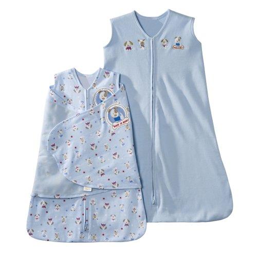 halo-2-pezzi-100-cotone-coperta-e-indossabile-set-regalo-blu-silly-pups-neonato-small