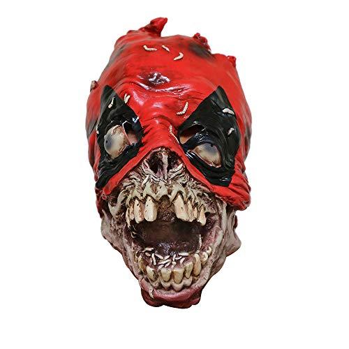 wyxhkj Scary Halloween Kostüm Party Requisiten Latex vollkopf Maske knifflige Maske (A)