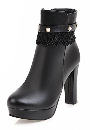 Bottines de Style Noir Nouveau Femme Mariage Aisun Elégant Chaussures ntWqa6W0w