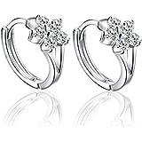 orecchini donna, DDLBiz® elegante 925 strass cerchio fiocco di neve orecchini di diamanti per donna