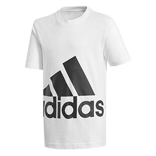 Adidas essentials big logo t shirt, ragazzo, essentials big logo, bianco, 128