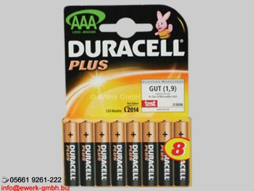 Duracell Plus 8x Batterie AAA - Micro